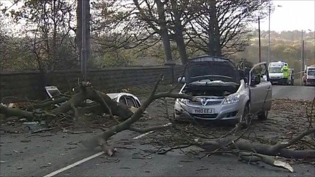Woman dies in storm