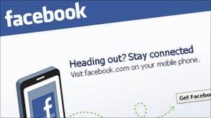 Facebook screen grab