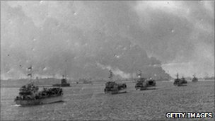 British forces approaching Port Said
