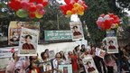 Burmese exiles celebrate in Delhi, India