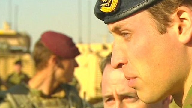 Prince William visits troops in Afghanistan