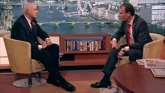 Iain Duncan Smith talks to Andrew Marr