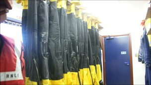 Dry suits drying out