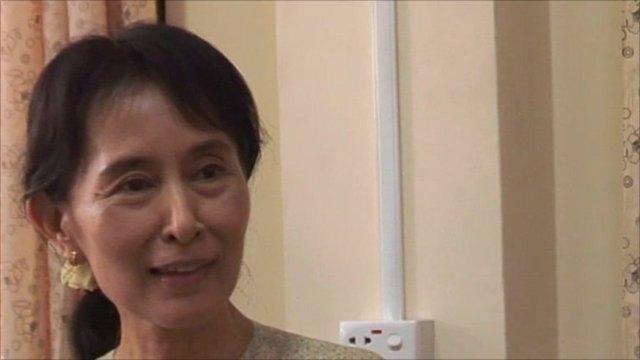 Aung San Suu Kyi speaks to the BBC