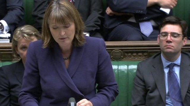 Deputy Labour leader Harriet Harman addresses the Commons