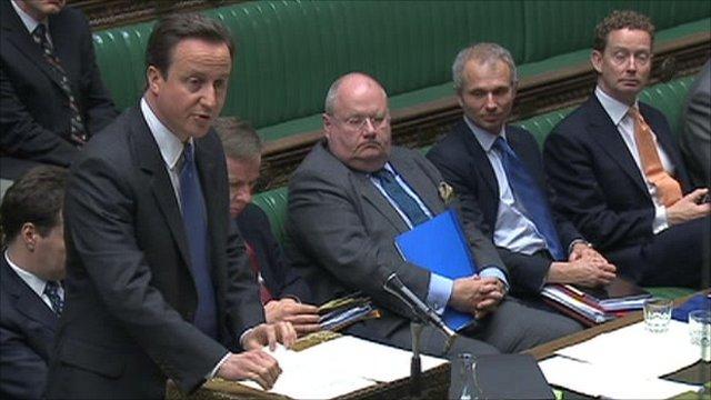 David Cameron addresses the Commons