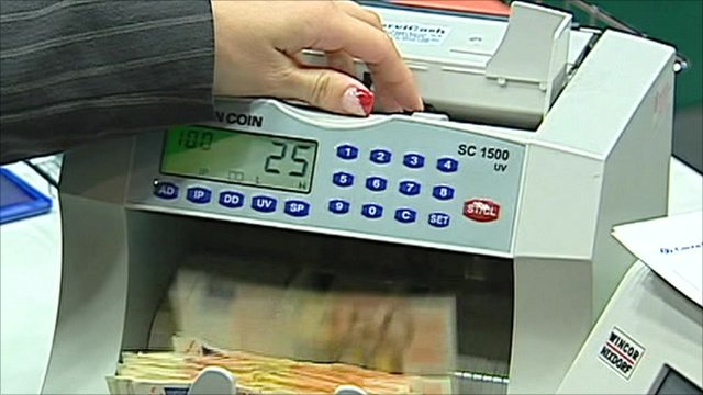 A money-counting machine
