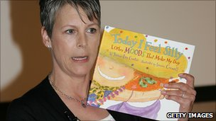 Actor and author Jamie Lee Curtis promotes one of her children's books in 2006