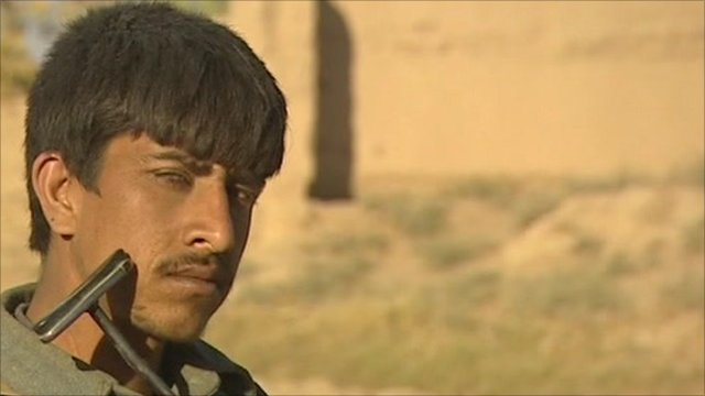 A member of the Afghan police
