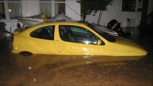 Flooding in Lostwithiel