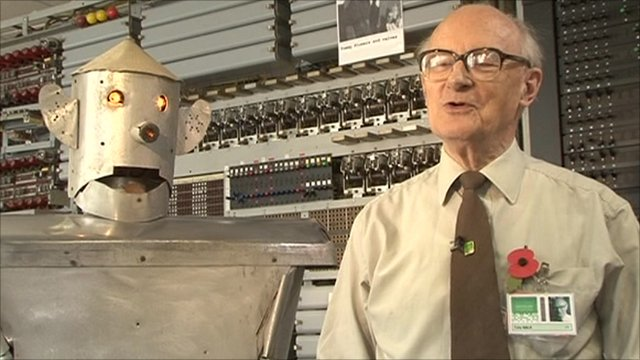George the Robot with his inventor, Tony Sale