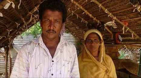Rizana Nafeek's father Sulthan and her mother Rafeena