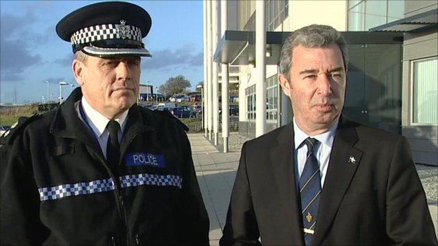 Chief Superintendent Chris Boarland and Cornwall Council Leader Alec Robertson