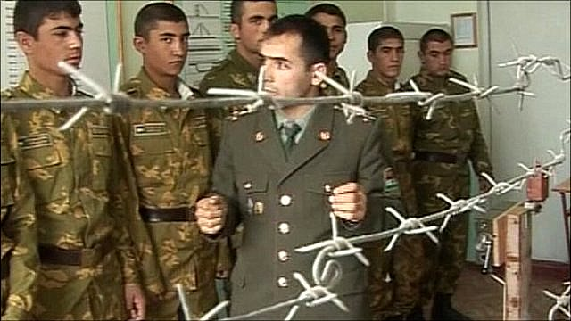 Tajik soldiers