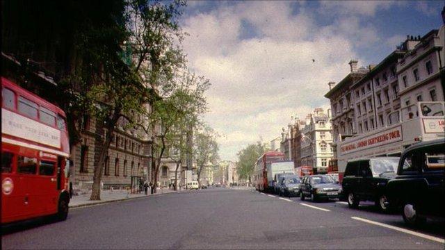 Whitehall in London