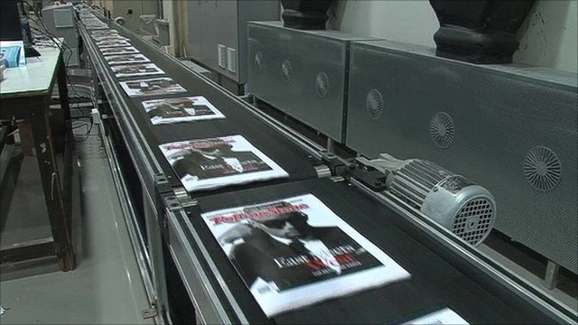Rolling Stone covers being printed