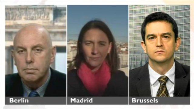 The BBC's Steve Evans, Sarah Rainsford and Matthew Price