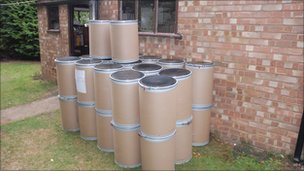 Chemical barrels seized by Soca