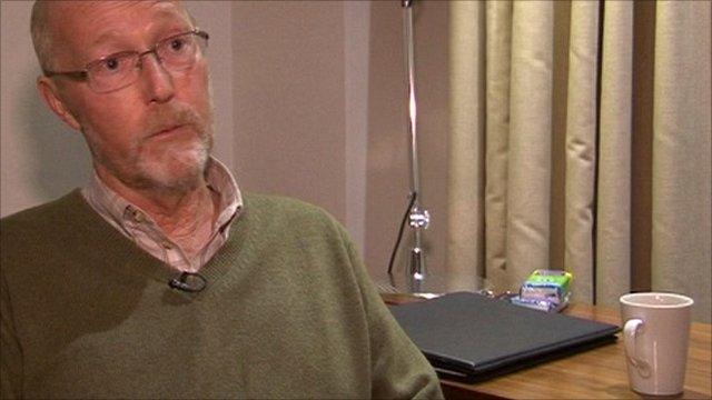 Lung cancer survivor Alan German