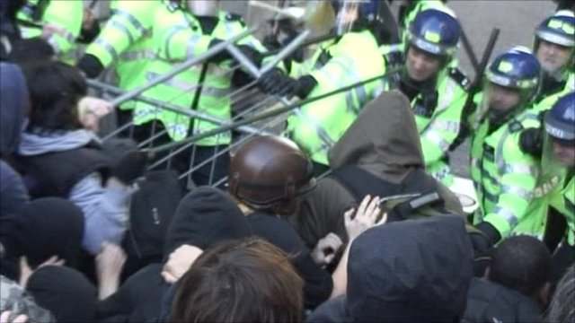 Clashes in London