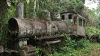 Rusting train in Porto Velho