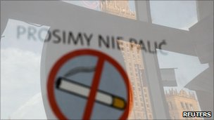 No-smoking sign in Poland