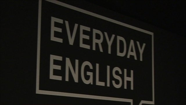 Sign: 'Everyday English'