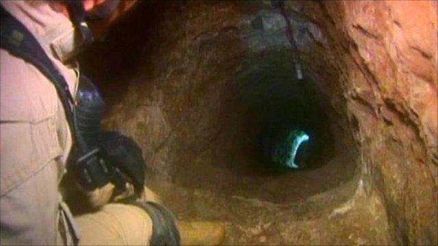 Drug smugglers' tunnel