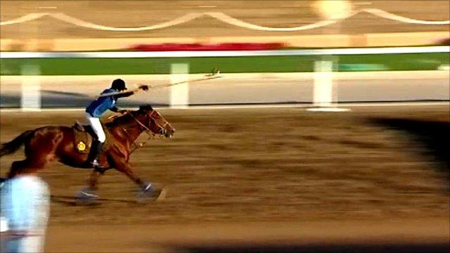 Horseman in Oman