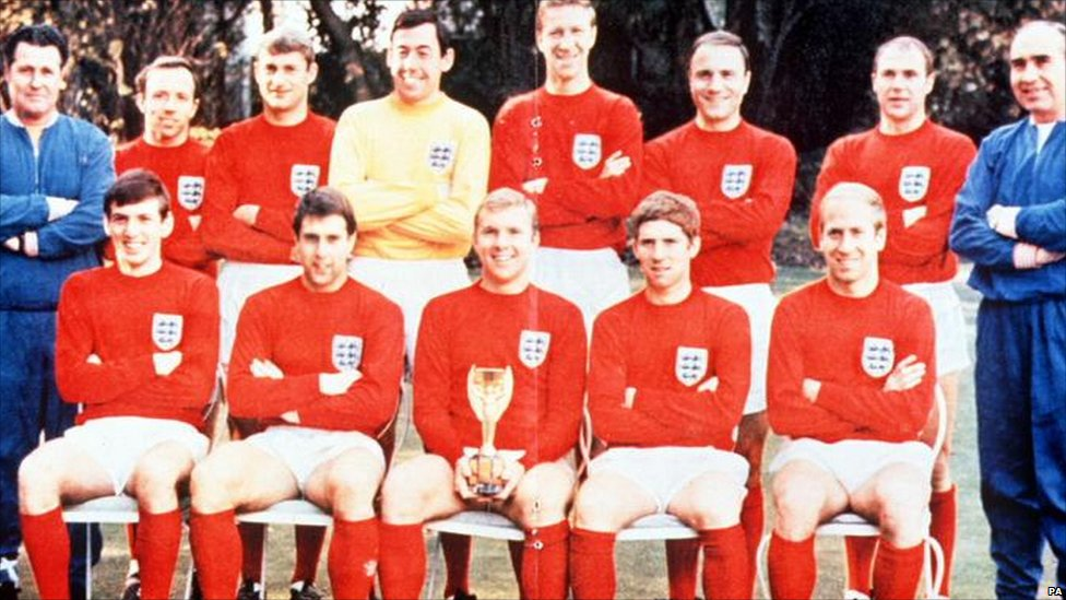 The Winning World Cup England Team