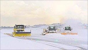 Snow ploughs at Edinburgh Airport