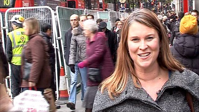 Robyn Bresnhan on Oxford Street
