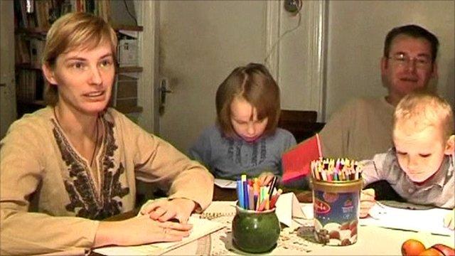 The Zarina family in Latvia