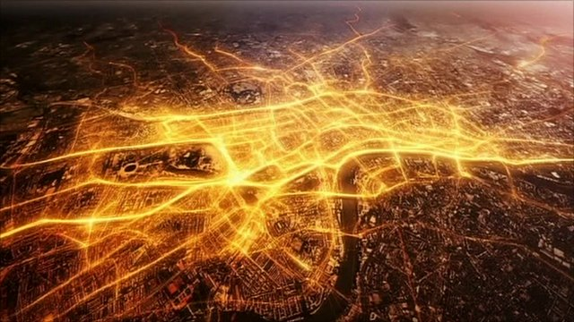 An illustration of some of Britain's broadband network