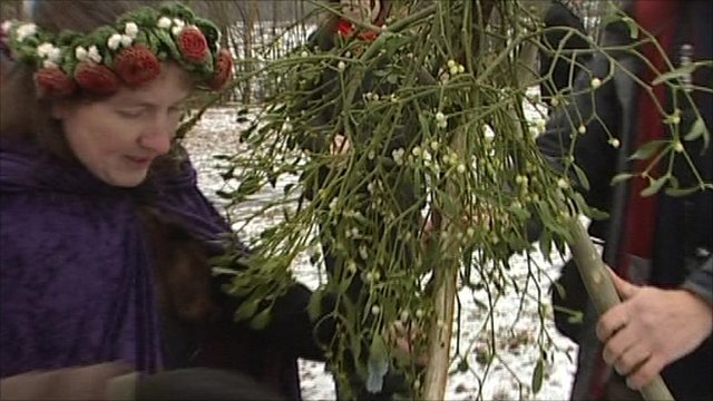 Druids with mistletoe