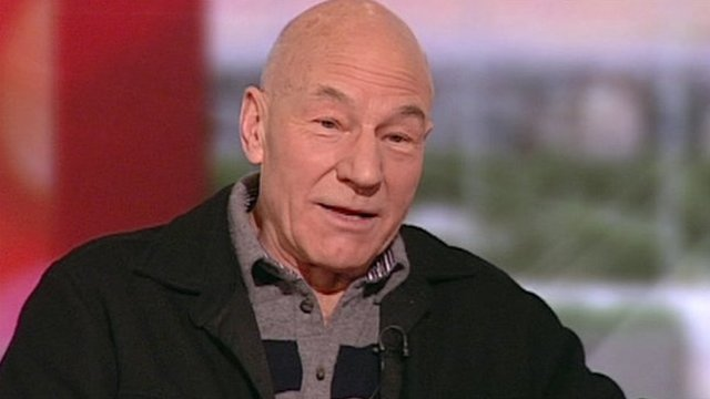 Patrick Stewart on BBC Breakfast