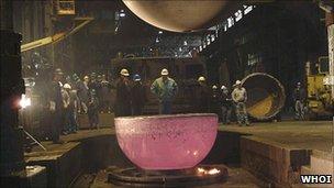 Titanium sphere in production (WHOI)