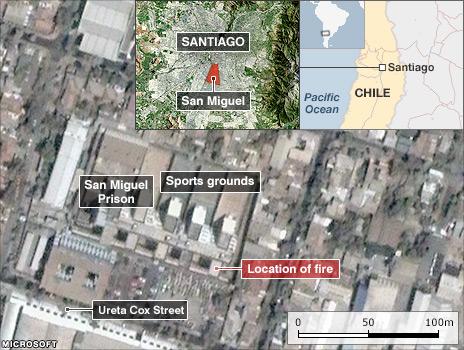 Map of San Miguel prison
