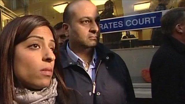 Anni Dewani's relatives outside court