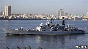HMS Manchester in Cuba