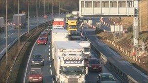 Traffic on M62