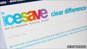 Icesave site