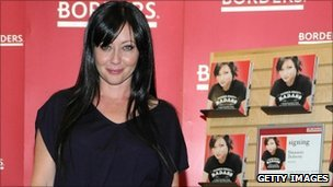 Actress Shannen Doherty recently launched her book at Borders