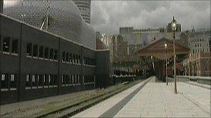 Moor St Station platform