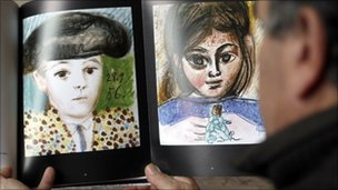 Picasso's Paul en costume de toreador, left, Paloma a la poupee, right