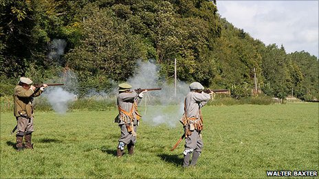 Philiphaugh re-enactment - Pic by Walter Baxter on Geograph