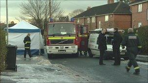 Scene of fatal fire in Fearnville, Leeds