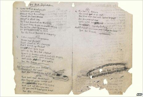 Dylan lyrics