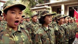 Children at a Beijing public schools