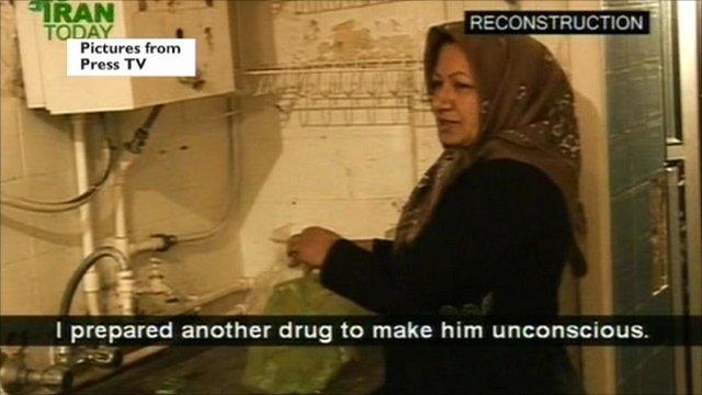 Sakineh Mohammadi Ashtiani filmed on Iran's state-run Press TV